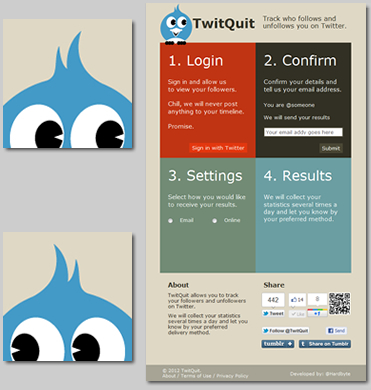 TwitQuit - Designed and Developed by Hardbyte